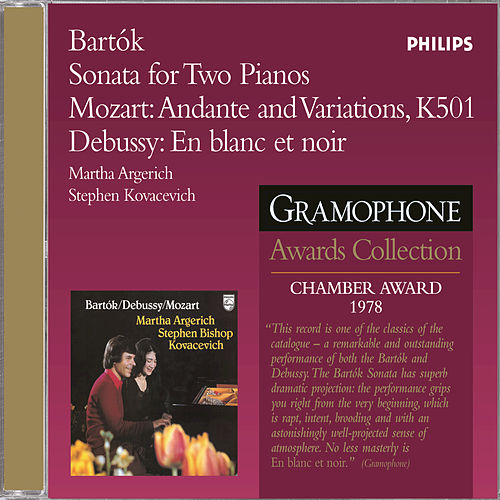 Bartok: Sonata For 2 Pianos And Percussion / Mozart/Debussy by Martha Argerich