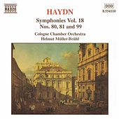 Play & Download HAYDN: Symphonies, Vol. 18 (Nos. 80, 81, 99) by Helmut Muller-Bruhl | Napster