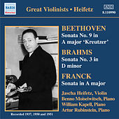 Play & Download Beethoven / Brahms / Franck: Violin Sonatas (Heifetz) (1937-1951) by Jascha Heifetz | Napster