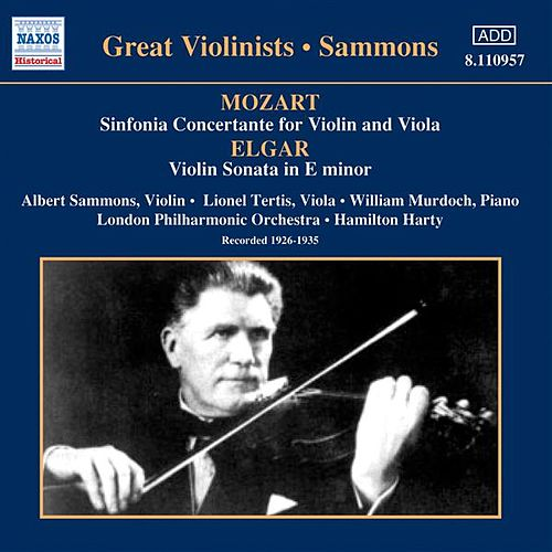 Play & Download Mozart: Sinfonia Concertante / Elgar: Violin Sonata (Sammons) (1926-1935) by Albert Sammons | Napster