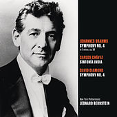 Play & Download Brahms: Symphony No. 4 in E minor, op. 98; Chávez: Sinfonía India (Symphony No. 2); Diamond: Symphony No. 4 by Leonard Bernstein | Napster