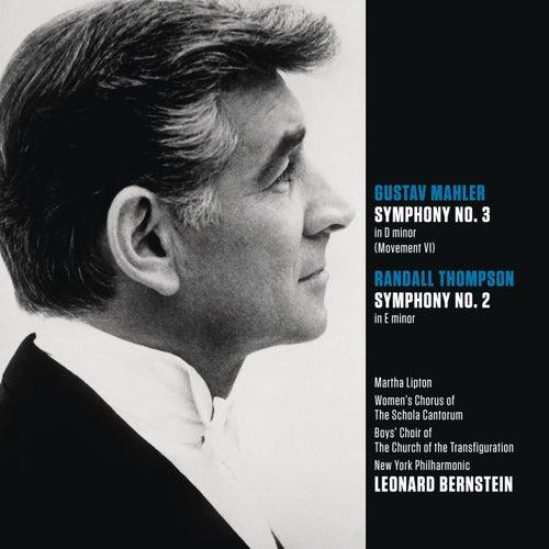 Mahler: Symphony No. 3 in D minor (Movt. VI); Randall Thompson: Symphony No. 2 in E minor by Leonard Bernstein