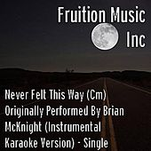 Play & Download Never Felt This Way (Cm) Brian McKnight (Instrumental Track) by Fruition Music Inc. | Napster