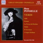 Ponselle, Rosa: Rosa Ponselle Sings Verdi (1918-1928) by Various Artists