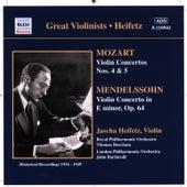 Play & Download Mozart / Mendelssohn: Violin Concertos (Heifetz) (1934-1949) by Jascha Heifetz | Napster