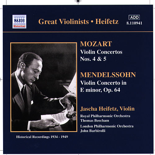Mozart / Mendelssohn: Violin Concertos (Heifetz) (1934-1949) by Jascha Heifetz