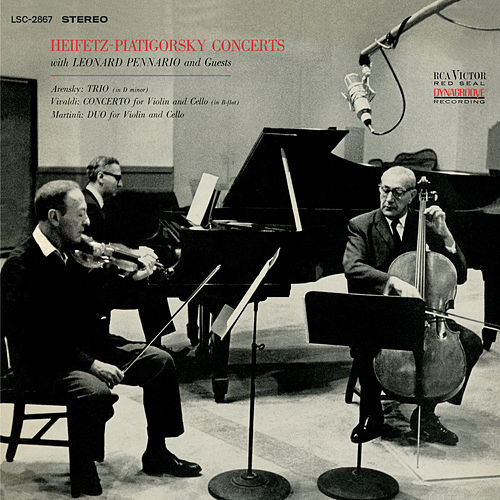 Arensky: Trio No. 1 Op. 32 in D Minor, Vivaldi: Concerto, RV 547/Op. 22, Martinu: Duo for Violin and Cello by Jascha Heifetz