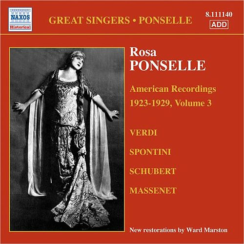 Ponselle, Rosa: American Recordings, Vol. 3 (1923-1929) von Rosa Ponselle