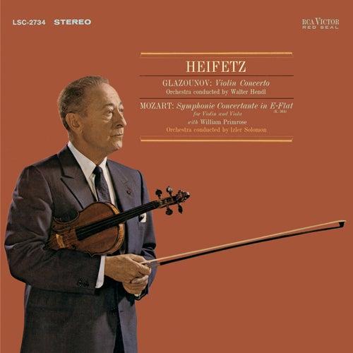 Play & Download Glazunov: Violin Concerto In A Minor, Op. 82 , Mozart: Sinfonia Concertante, K.364 In E-Flat by Jascha Heifetz | Napster