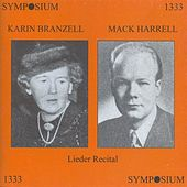 Lieder Recital: Karin Branzell - Mack Harrell von Various Artists