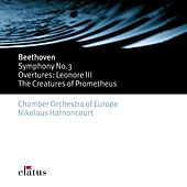 Beethoven : Symphonies Nos 1 & 3, 'Eroica' & Overtures by Nikolaus Harnoncourt