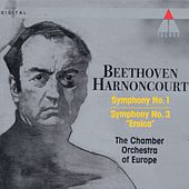 Beethoven : Symphonies Nos 1 & 3, 'Eroica' by Nikolaus Harnoncourt