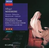 Allegri/Lotti/Monteverdi/Palestrina etc.: Miserere/Crucifixus/Adoramus Te/Exsultate Deo etc. von Various Artists