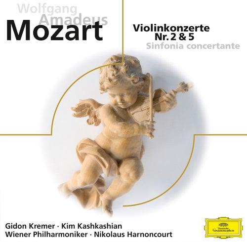 Mozart: Violinkonzerte Nr. 2 & 5, Sinfonia concertante KV 364  (ELO) von Gidon Kremer
