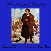 The Record Of Singing Volume 2, Part 4 by Various Artists