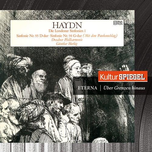 Haydn: Symphonies Nos. 93, 94 & 103 (KulturSpiegel - Eterna - Über Grenzen hinaus) by Dresdner Philharmonie