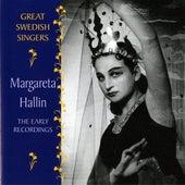 Hallin, Margareta: The Early Recordings (1955-1960) by Margareta Hallin