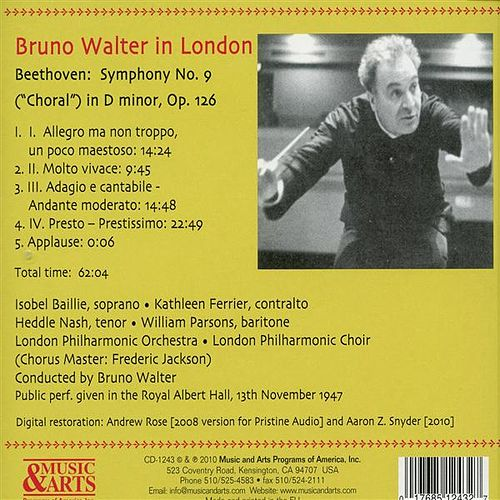 Play & Download Bruno Walter Conducts Beethoven: Symphony No. 9 (1947) by Isobel Baillie | Napster