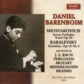 Daniel Barenboim - Rare first recordings 1955 by Daniel Barenboim