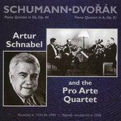 Schumann: Piano Quintet in Eb, Op. 44 - Dvorak: Piano Quintet in A, Op. 81 by Artur Schnabel