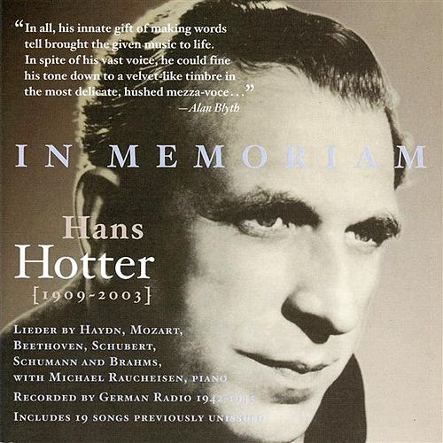 In Memoriam Hans Hotter (1942-1945) by Hans Hotter