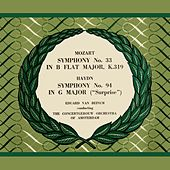 Play & Download Wolfgang Amadeus Mozart Symphony No. 33 and Josef Haydn Symphony No. 94 'Surprise' by Concertgebouw Orchestra of Amsterdam | Napster