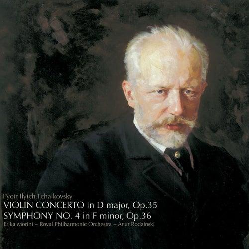 Tchaikovsky: Violin Concerto in D, Symphony No. 4 de Erika Morini
