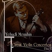 Play & Download Great Violin Concertos (Disc I) by Yehudi Menuhin | Napster