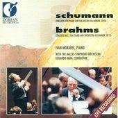 Schumann, R.: Piano Cocnerto, Op. 54 / BRAHMS, J.: Piano Concerto No. 1 by Ivan Moravec