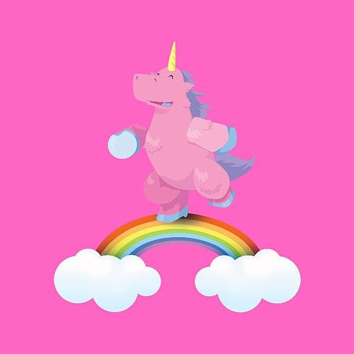 Punk Fluffy Unicorns Dancing On Rainbows by Songs To Wear Pants To