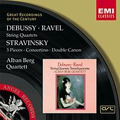 Debussy & Ravel: String Quartets & Stravinsky: 3 Pieces, Concertino & Double Canon by Alban Berg Quartet