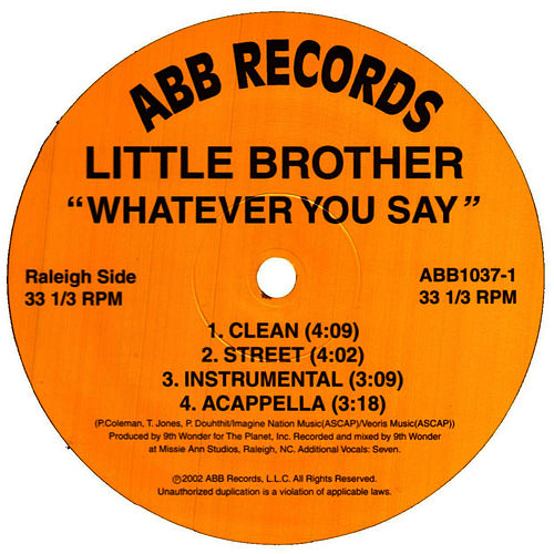 Play & Download Whatever You Say/Light It Up/Altitudes (Flyin' High) by Little Brother | Napster