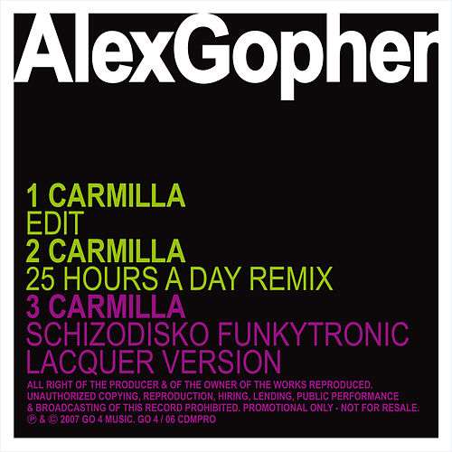 Carmilla - Ep by Alex Gopher