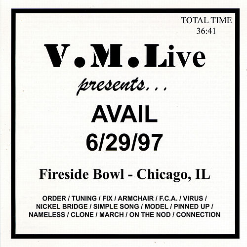 Play & Download V.M.Live Presents Avail 6/29/97 by The Vindictives | Napster