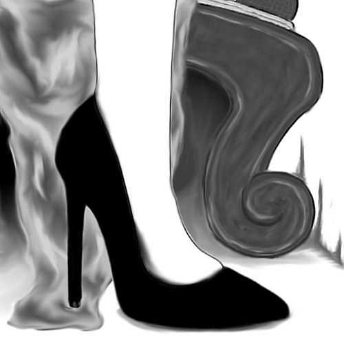 Black Stilettos by Melody Cox