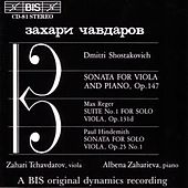 Viola Sonatas/Suite No. 1 For Solo Viola by Various Artists