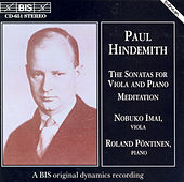Viola Sonatas/Meditation by Paul Hindemith