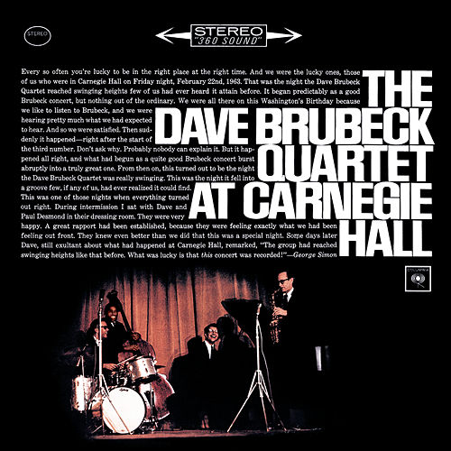 Play & Download At Carnegie Hall by Dave Brubeck | Napster