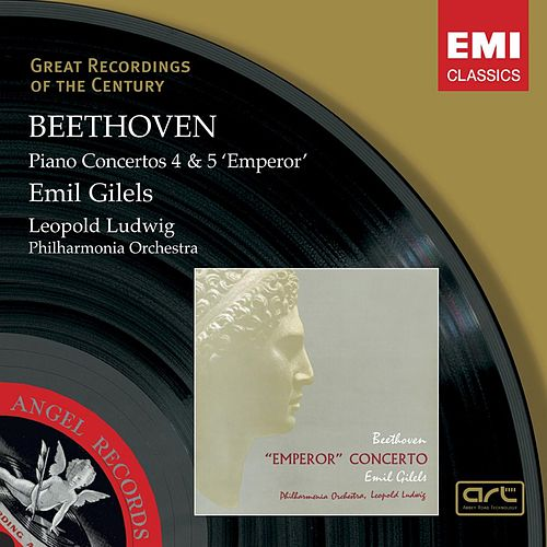 Beethoven: Piano Concerto Nos 4 & 5 by Philharmonia Orchestra