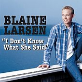 Play & Download I Don't Know What She Said by Blaine Larsen | Napster