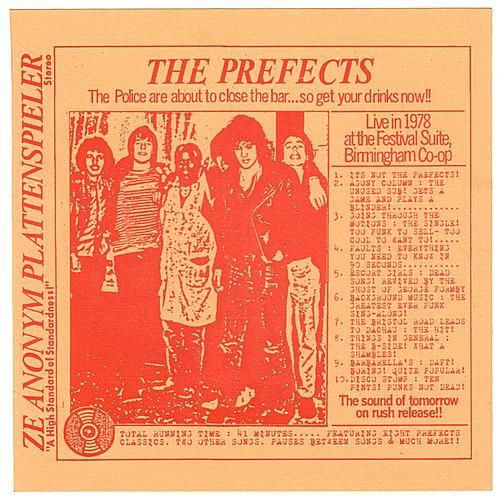 Live In 1978 At The Festival Suite, Birmingham Co-op by The Prefects