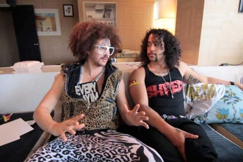 LMFAO Champagne Shower, Take it to the Hole (Video Interview)