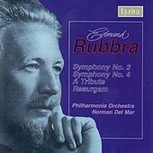 Rubbra: Symphony No. 3 , A Tribute, Resurgam and Symphony No. 4 by Philharmonia Orchestra