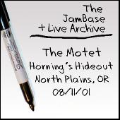 08/11/01 - Horning's Hideout - North Plains, OR by The Motet