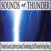 Sounds of Thunder: Thunder Sounds, Lightning Sounds, Thunderclaps, Soft Thunder for Deep Sleep by Robbins Island Music Group