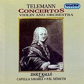 Telemann: Concertos for Violin and Orchestra by Zsolt Kallo