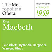 Verdi: Macbeth (February 21, 1959) by Giuseppe Verdi