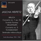Jascha Heifetz Plays Bruch, Vieuxtemps & Tchaikovsky by Jascha Heifetz