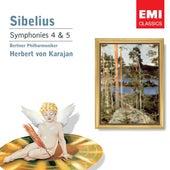 Sibelius: Symphonies 4 & 5 by Herbert Von Karajan