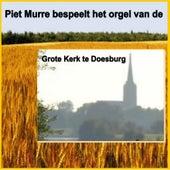 Piet Murre bespeelt het orgel van de Grote Kerk te Doesburg by Piet Murre